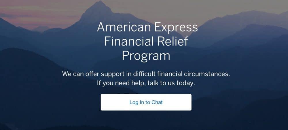Amex Financial Relief program